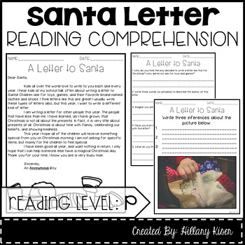 Leveled Text P: A Letter to Santa
