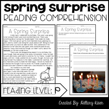 Leveled Text P: A Spring Surprise