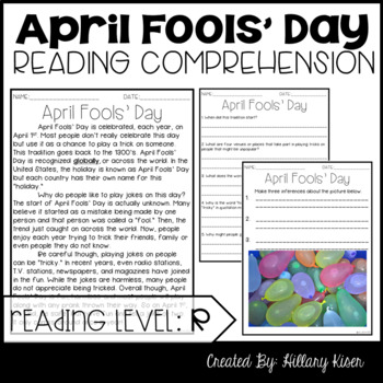 Leveled Text R: April Fools' Day