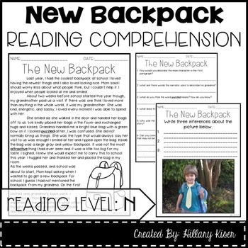 Leveled Text N: The New Backpack