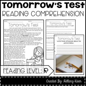 Leveled Text R: Tomorrow's Test