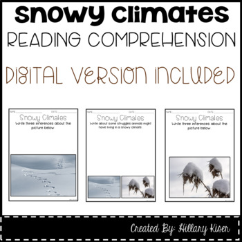Leveled Text W: Snowy Climates
