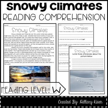 Leveled Text W: Snowy Climates