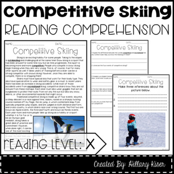 Leveled Text X: Competitive Skiing