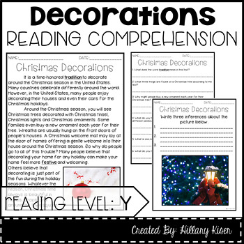Leveled Text Y: Christmas Decorations