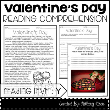Leveled Text Y: Valentine's Day
