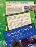 Leveled Texts: Earthquakes and Volcanoes