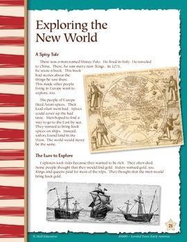 Leveled Texts: Exploring the New World