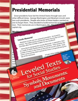 Leveled Texts: Presidential Memorials (eLesson)