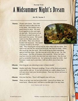 Leveled Texts Shakespeare--A Midsummer Night's Dream-Act II, Scene I