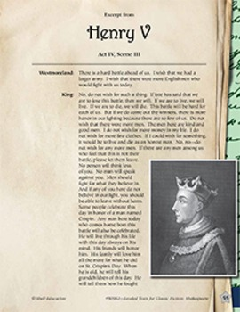 Leveled Texts Shakespeare--Henry V-Act VI, Scene III