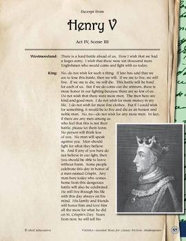 Leveled Texts Shakespeare--Macbeth-Act I, Scene VII (eLesson)