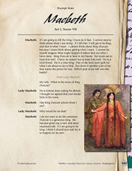 Leveled Texts Shakespeare--Macbeth-Act I, Scene VII