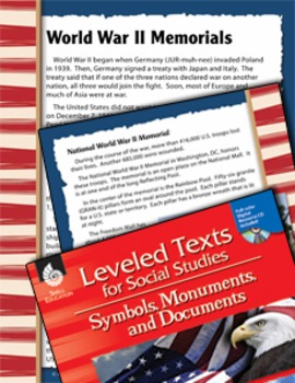 Leveled Texts: World War II Memorials (eLesson)