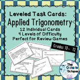 Trigonometry Task Cards - Leveled - Suitable for Review Games