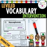 Leveled Intervention for Vocabulary