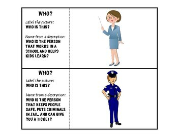 Leveled WH Question, Describing, Sentence Formulation Activity