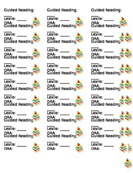 Leveling Your Classroom Library Stickers