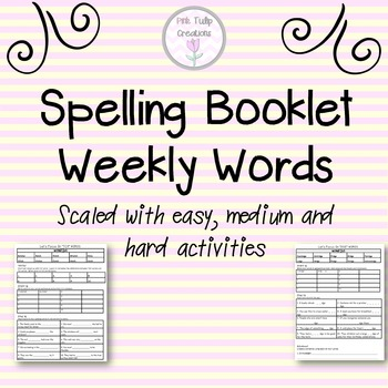 Differentiated Spelling Booklet Covering Spelling Sounds a