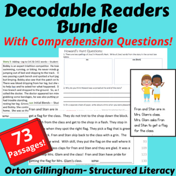 Orton Gillingham Decodable Passages All Levels -Orton Gillingham Readers Bundle
