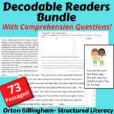 73 Orton Gillingham Decodable Stories (all levels) for Reading Fluency