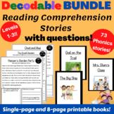 Decodable Passages (73) & Comprehension Questions for Orton - + Google Slides