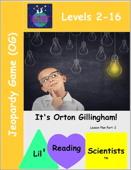Jeopardy Game - Orton Gillingham Literacy Rules (OG)