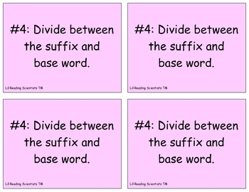 Syllable Division Word Sort - ALL 6 Syllable Types (OG)