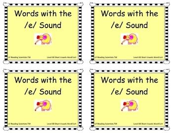 Short Vowels Word Sort (OG)