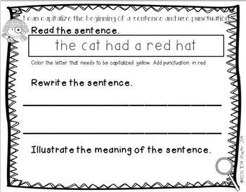 Kindergarten Homework NO PREP Levels 25-30