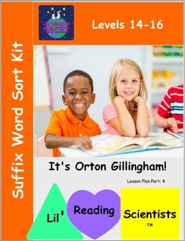 Suffix Word Sort Kit - Advanced  (OG)