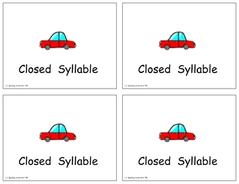 Syllable Types Word Sort - ALL 6 Syllable Types (OG)