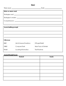 Levels 9-16 Guided Reading Template