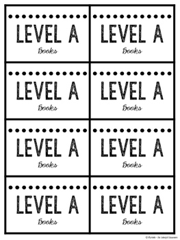 Levels A-Z Guided Reading Book Bin Labels {Printer-Friendly Blackline}