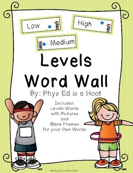 Levels Word Wall