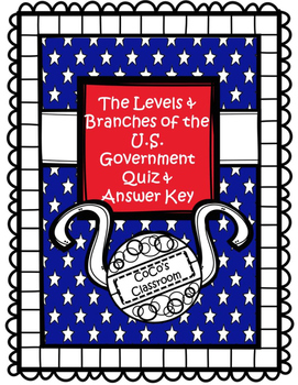 Levels and Branches of Government Quiz FREEBIE