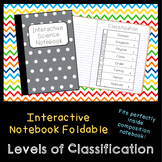 Levels of Classification Foldable