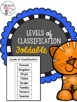 Levels of Classification Foldable