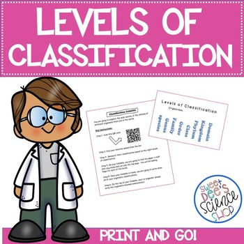 Levels of Classification Foldable with QR Code