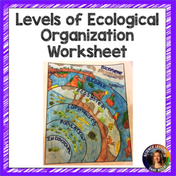 Levels Of Ecological Organization Worksheet By Science Lessons That Rock
