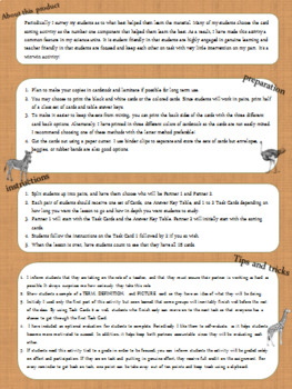 Levels of Ecology Card Sort Activity Task Cards