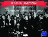 "Levels of Government Interactive Vocabulary Game ""I Have, Who Has?"" Cards"