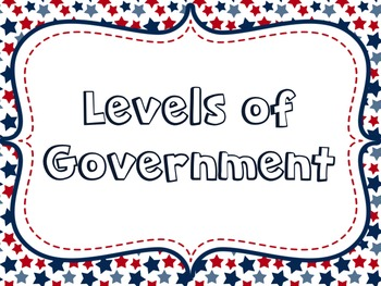 Levels of Government Lesson