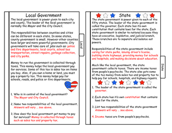 Levels of Government Tab Book