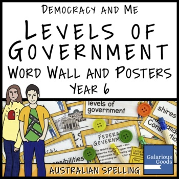 Levels of Government Word Wall and Posters (Year 6 HASS)