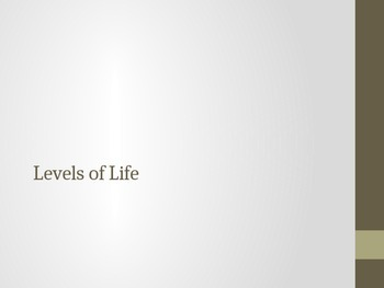 Levels of Life Organization PowerPoint
