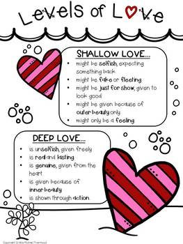 Levels of Love: Analyzing Character Interactions {Valentine's Day Close Reading}