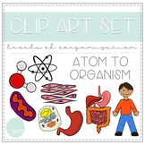 Biology Clip Art - Levels of Organization - Atom to Organism