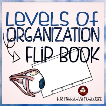 Levels of Organization Flip Book for Interactive Notebooks in Science