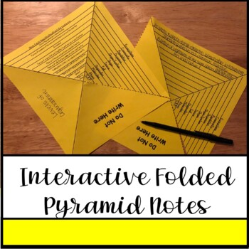 Levels of Organization: Interactive Pyramid Foldable Notes & Card Sort